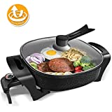 Electric Skillet Non-stick Electric Frying Pan, Oneisall 1500W Electric Deep Skillet with 3 Adjustable Temperature...