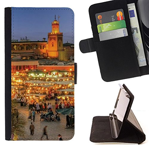 FJCases Marrakesh Morroco Postcard View Slim Wallet Card Holder Flip Leather Case Cover for Sony Xperia Z1 Compact