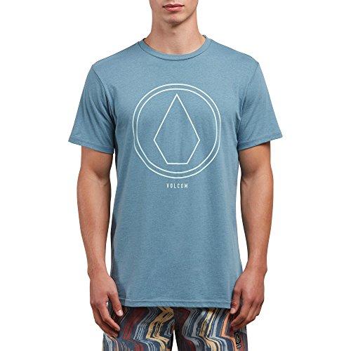 Volcom Mens Pin Line Stone Modern Fit Short Sleeve Shirt