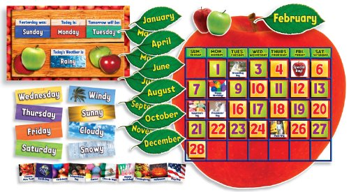 Scholastic Apple Photo Calendar Bulletin Board (TF8407)