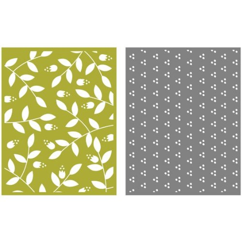 QUICKUTZ Lifestyle Crafts Sprig 2-Pack Embossing Folder for Scrapbooking