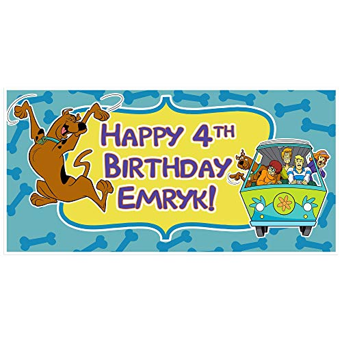 Scooby Doo Birthday Banner Personalized Party Decoration