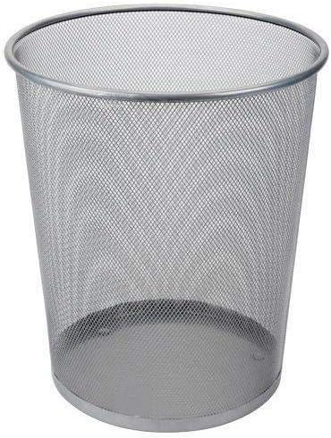 DRULINE 1 x Papierkorb Metall Mülleimer Büro (Silber) Ø 29,5 cm X 35 cm 19 Liter