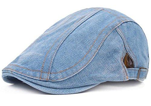 Mujer Gorra para Vaquera oscuro Sombrero Boina Vintage Aire del Sol Adult Visera Sombrero Protector al Leisial Sencilla con Azul Ocio Solar Casquillo 3 Libre Unisex de dwqxXdR