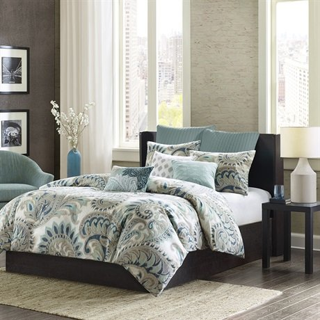 picture of INK+IVY Mira 200TC Duvet Cover Set, King, Blue