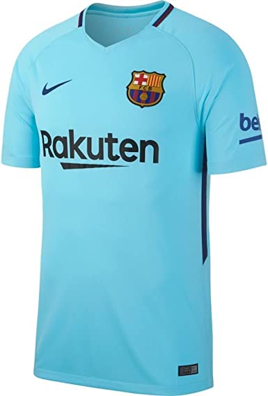 Imaginativo Pasivo cocinero  Amazon.com: Nike FC Barcelona Stadium Jersey [Polarized Blue]: Clothing