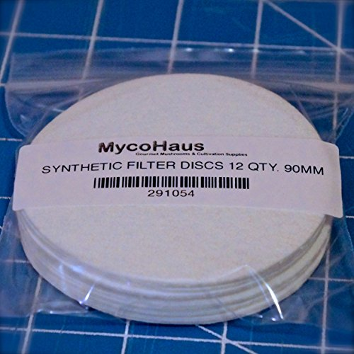 12 synthetic filter discs 90mm ''Wide Mouth'' size by mycohaus
