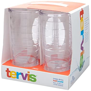 Tervis 4-Pack Tumbler, 16-Ounce, Clear