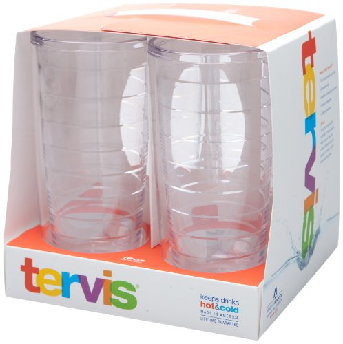 Tervis 4-Pack Tumbler, 16-Ounce, Clear (4 Pack 16 Oz Tumblers)