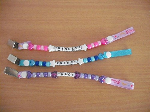 Personalised Dummy Clips Soother Chain Pacifier Lots Of Designs All Handmade To Your Specification Kraftyideasdesigns