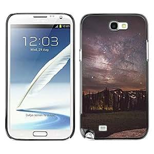 Paccase / SLIM PC / Aliminium Casa Carcasa Funda Case Cover - Milky Way Night Sky Mountains - Samsung Note 2 N7100