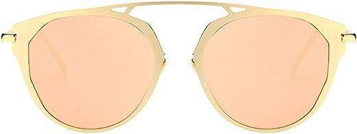 نظارات شمسية ملونة عتيقة دائرية ملونة عتيقة من Designer Women بإطار معدني