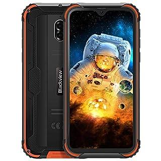 "Unlocked Rugged Smartphones Blackview BV5900 - Rugged Cell Phones with Android 9.0 4G LTE IP68 Waterproof Drop Proof, 5.7"" Screen 3GB+32GB Dual SIM 5580mAh Battery(Orange)"