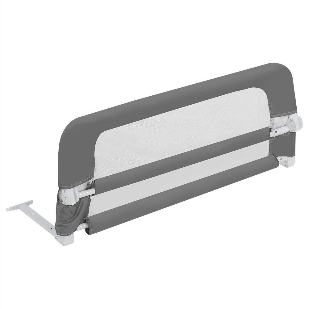 Barri/ère de Lit Pliable R/églable Anti-Chute pour Enfant Garde Corps de Lit R/églable pour Chambre /à Coucher Barri/ère de Bord de Lit Vertical Beige
