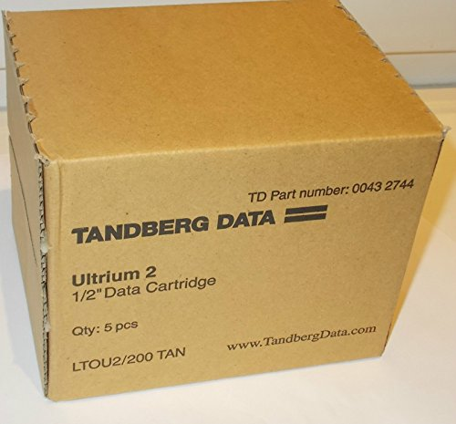 5x Tape Cartridge Ultrium-2 Tandberg Data 0043 2744 LTO-2 by TANDBERG