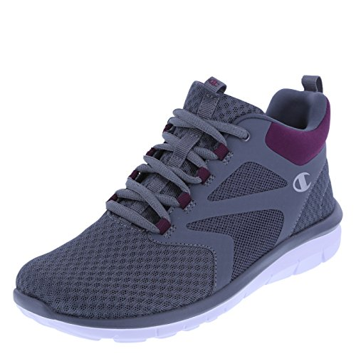 Champion Women's Grey Purple Women's Gusto Cross Trainer Mid-Top 7 Regular (Womens Running Shoes Champion compare prices)