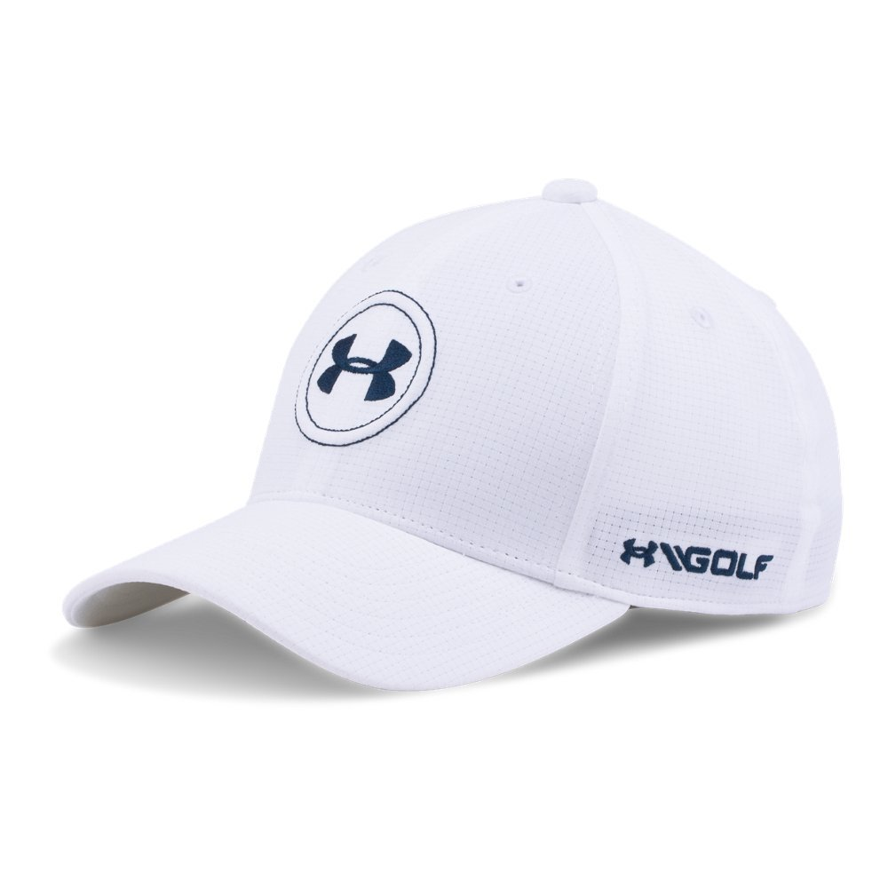 Under Armour Boys Golf Official Tour Cap, White /Academy, Youth Small/Medium by Under Armour