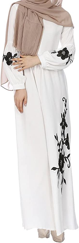 Muslim Chiffon Long Sleeve Long Maxi Dress Vintage Dresses Usstore Fashion Womens Casual Dress