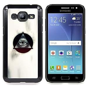 Masonry Masons Symbolism Eye Pyramid Caja protectora de pl??stico duro Dise?¡Àado King Case For Samsung Galaxy J2