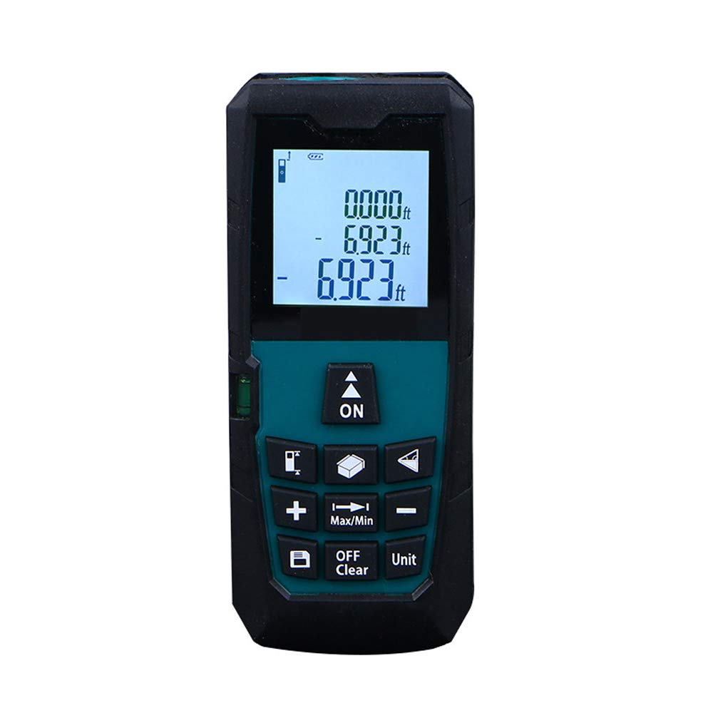 AUEDC Laser Rangefinder, Portable Professional Laser Distance Meter Distance Meter with LCD Backlight HD Screen Dust Splashproof for Accurate Measurements,60m/197ft by AUEDC