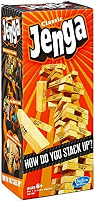 Hasbro Jenga Classic | Block Stacking Game for 1 or More Players: Amazon.es: Juguetes y juegos