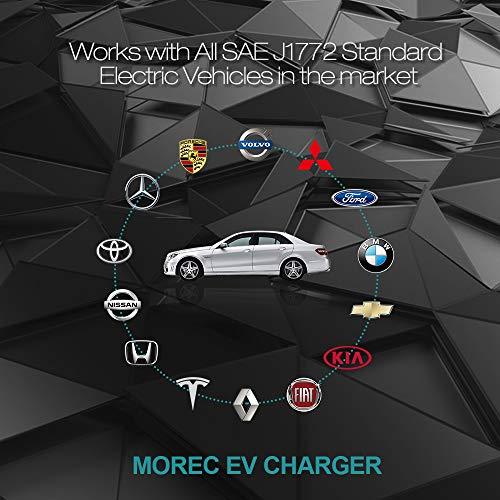 Morec 32 Amp EV Charger Level 2, NEMA14-50 26ft 220V-240V Upgraded Portable EV charging cable Station, Electric vehicle charger Compatible with All EV Cars. by Morec (Image #5)