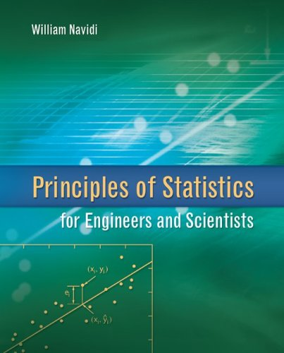 Principles Of Statistics For Engineers And Scientists (Irwin Industrial Engineering)
