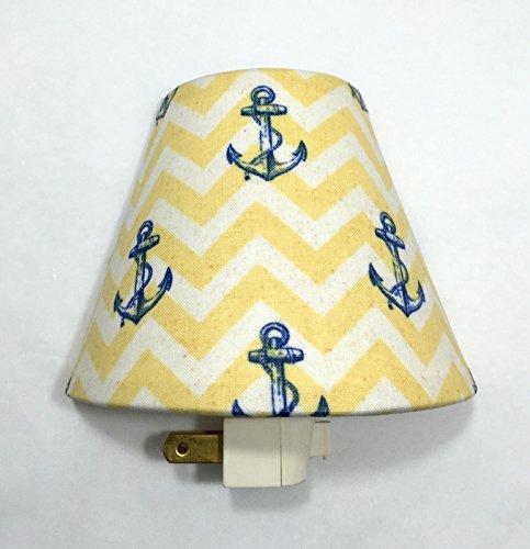 Anchors Nautical Plug In Night Light / Nursery Decor / Baby Shower Gift / Home Decor / Kid's Room / Lighting / Hallway Light / Ships / Boats/ Ocean / Sea