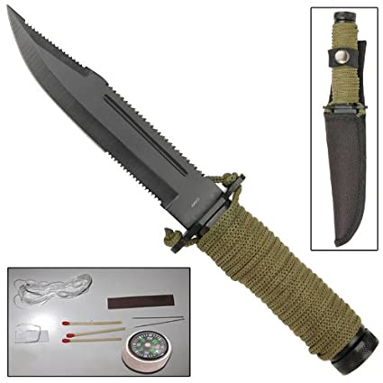 Amazon.com: Mini Hunter Paracord supervivencia cuchillo ...