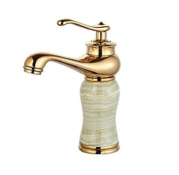 Jieslt Badezimmer Marmor Waschbecken Wasserhahn Heiss Und Kalt