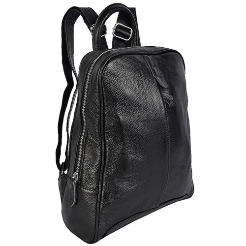 Full Backpack New Genuine Handbag Fashion Black Oneworld Leather Cowskin Satchel Women Simple Grain qBFZZwtnH