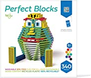 Tegu 340 Piece Perfect Blocks Building Set, Multicolor (Amazon Exclusive)