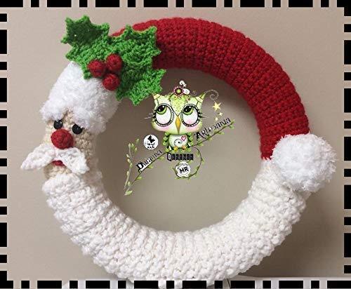 Santa Claus - Crochet Pattern - wreath pattern - Crochet christmas ... | 412x500