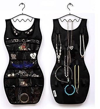 NEW En forme de Robe Double face /économie despace /à suspendre organiseur de porte//armoire /à bijoux affichage Support de rangement