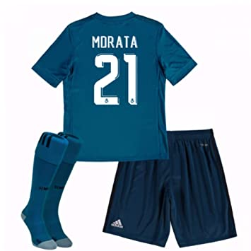 UKSoccershop 2017-18 Real Madrid Third Mini Kit (Alvaro Morata 21 ... 622f11768
