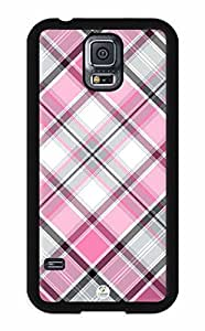 iZERCASE Samsung Galaxy S5 Case Pink and Black Plaid Pattern RUBBER - Fits Samsung Galaxy S5 T-Mobile, AT&T, Sprint, Verizon and International