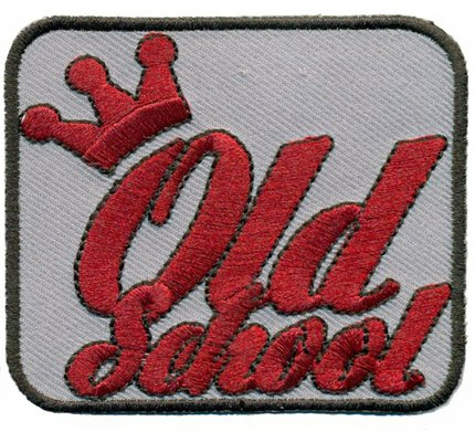 Crown Old School Hotrod Vintage Biker Oldtimer US Car Iron on Patch Badge]()