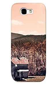 First-class Case Cover Series For Galaxy Note 2 Dual Protection Cover Hilltop Abandoned House YDZJFIq3248ukQMk