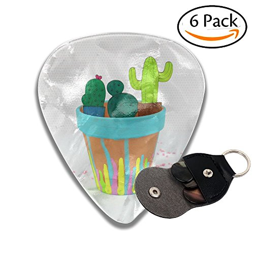 Diy Wooden Painted Cactus Planter.JPG 6 Pack Unique Guitar Gift For Electric Guitar,acoustic Guitar,mandolin,and Bass .71mm Celluloid Picks (Gifts Planters Personalized)