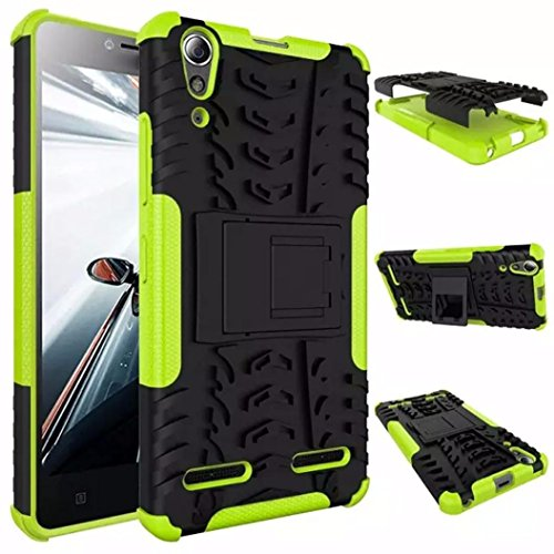 Price comparison product image Aobiny Tablet Cover Hybrid Armor Dual Layer 2 in 1 Hard Case For Lenovo A6000 (Green)