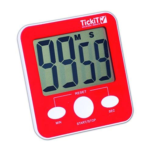 TickiT Jumbo Timer - Red (Classroom Timer)