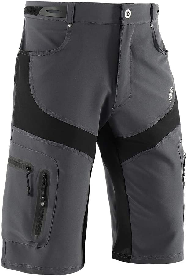 mewmewcat Men Cycling Shorts Quick Drying Breathable Running Bike Riding Casual Shorts with 6 Pockets