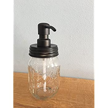 Amazon.com: Ball Jar Soap Dispenser with Metal Black Pump and ...