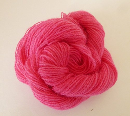 Degas Pink Acrylic Wool Blend Fingering/Lace Weight Knitting Crochet Yarn - Silk Wool Lace