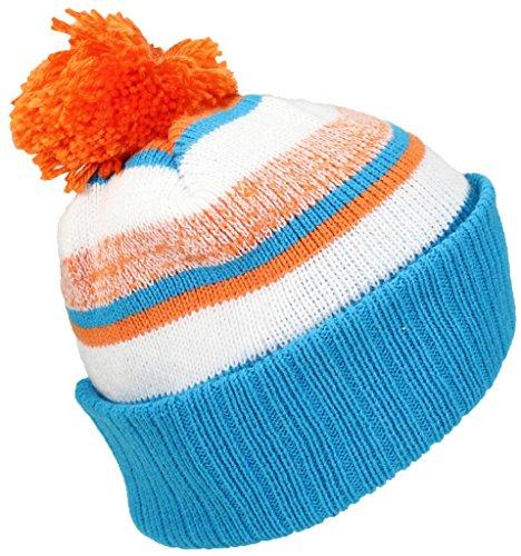 Ride Aqua Sled (Best Winter Hats Quality Striped Variegated Cuffed Beanie W/Pom (L/XL) - Aqua/Orange/White)