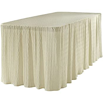 Amazon Com 6 Foot Folding Table Cloth Natural 30x72x29