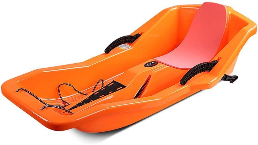 Heavy Duty Sled Enfants Adultes Grande Taille Enfants Neige Luges Herbe Sable Diapositives Toboggan Corde Plastique Ski Luge Conseil Sleigh Poign/ée Activit/és Plein Air