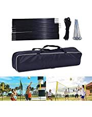 NAKELUCY Poste de Red de Voleibol de 4 Lados, Conjunto de Poste de Red de Voleibol portátil para Deportes de Interior y Exterior, Ejercicio recreativo, 2 Metros de Alto (sin Red de Voleibol)