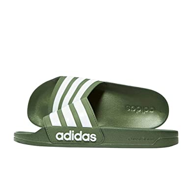 super popular 74798 eeb60 adidas Adilette Cloudfoam Men's Slide Sandals, Green, UK9
