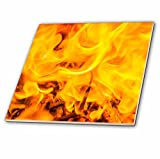 3dRose Alexis Photography - Texture Fire - Fire texture. Orange and yellow flame - 6 Inch Glass Tile (ct_267162_6)